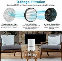 Levoit Air Purifier with True HEPA & Active Carbon Filters, Compact Purifiers Fi