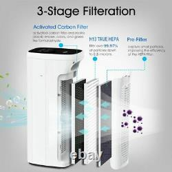 MS18Quiet Air Purifier Large Room Cleaner 825SQFT Eliminate Germ Smoke Odor Mold