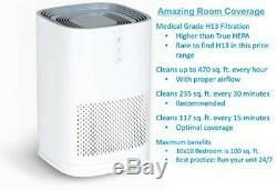 Medify Air MA-14 Medical Grade HEPA H13 Air Purifier White