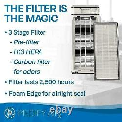 Medify Air MA-40-W V2.0 Air Purifier with H13 HEPA filter