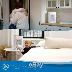 Medify MA-25 Medical Grade H13 True HEPA 500 Sq. Ft. Refurbished White