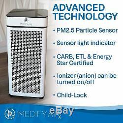 Medify MA-40 Medical Grade Filtration H13 True HEPA Air Purifier Refurb- White
