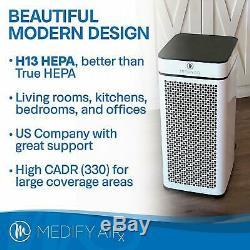 Medify MA-40 Medical Grade H13 True HEPA White-Includes New Filter Refurbished