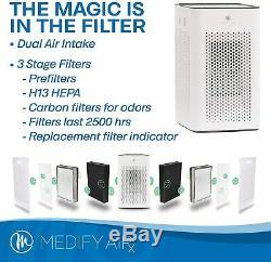 NEW! Medify MA-25 Medical Grade H13 True HEPA 500 Sq. Ft. White
