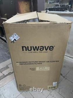 Never used NuWave OXYPURE Large area Smart Air Purifier with4 HEPA Filters 47004