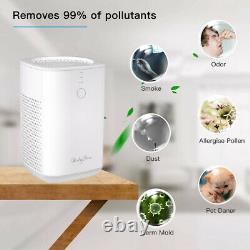 Personal Air Purifier Large Room HEPA Filtration 99.9% Particle Removal Desktop
