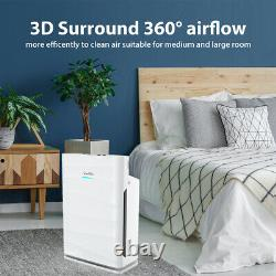 Powerful Large Room Air Purifier Medical Grade HEPA for Home Allergies Smoke