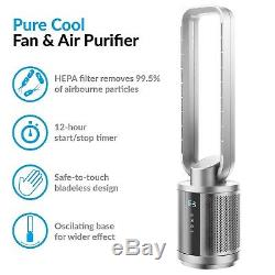 Quiet Dual HEPA Air Purifier and Pure Cool DC Fan with with Remote IQ-PureCoolS