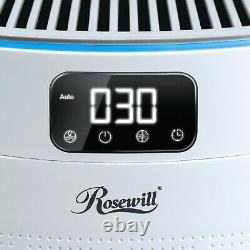 Rosewill True HEPA Air Purifier, Active UV light, Large Room Home Support