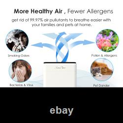 SimPure HP8 Air Purifier for Home XL Large Room 800 SQ. FT H13 True HEPA Filter