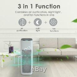 TRUE H13 HEPA Air Purifier Ionizer Large Room Cleaner for Allergies Somker Pets