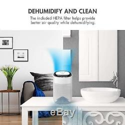Tenergy 1000ml Quiet Air Dehumidifier with Air Purifying Function True HEPA Filter