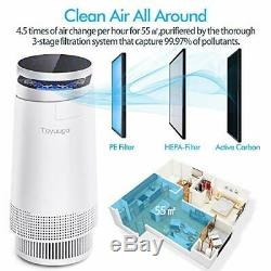 Toyuugo Air Purifier for Home Large Room, True HEPA Air Cleaner with Active