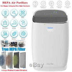 True HEPA Air Purifier, 4-in-1Large Room Air Cleaner&Deodorizer for AllergiesOdor