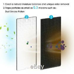 True HEPA Filter Air Purifier Large Room Air Cleaner for Allergies Smoker Odors