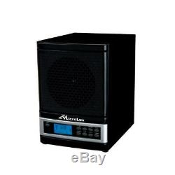 Whole House Air Purifier Black Ionizer True HEPA UVC Lamp 7 Stage 5 Speed Fan