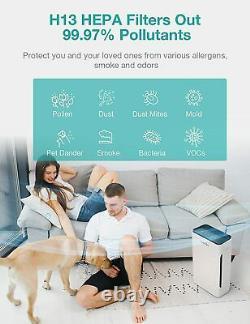 2 Pack Purificateur D'air Pour Les Allergies Et Les Animaux Domestiques Fumeurs De Cheveux Filtration Hepa