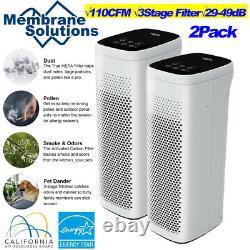2xlarge Room Air Purifier, 110cfm 3stage True Hepa Filter Odor Eliminator Cleaner