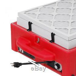 3-in-1 Contair Sb-500 Hepa Air Scrubber + Négatif Air + Machine Ioniseur Rouge