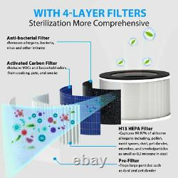 4pack Pour Membrane Solutions Msb3 Air Purifier H13 True Hepa Filter Remplacement