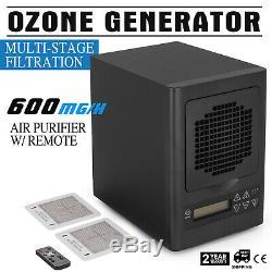 6 Etape Ozone Hepa Générateur Filtre À Air Purificateur Uv Ampoule Ioniseur Fumée Remover