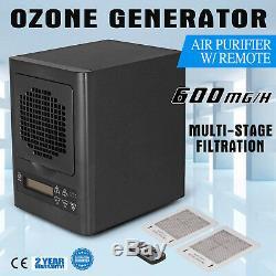 6 Ozone Phase Hepa Uv Générateur Purificateur D'air Avec Télécommande Poussière Odeur De Fumée Remover