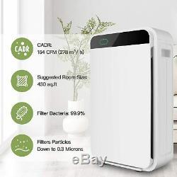 60w Purificateur D'air Filtre À Air + Filtre Hepa Calme Odeur Éliminateurs Pour Chambre