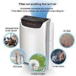 Accueil 3 Vitesse Purificateur D'air Hepa Puissant Carbon Ion Air Cleaner Odeur Depoussierant