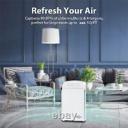 Accueil True Hepa Air Purifier Grande Chambre Air Cleaner Pour Allergies Fumer Animaux Cheveux