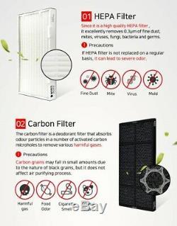 Amway 10-1076k / 10-3832k Purificateur D'air Remplacement Du Filtre 1 An Set (hepa + Carbone)