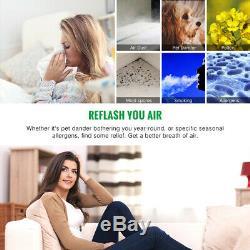 Asiwo Purificateur D'air Hepa Filtre Fumée Remover Squames Ion Négatif Filtre À Air