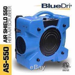 Bluedri As-550 Hepa Commercial Industriel Négatif Air Machine Scrubber Purificateur