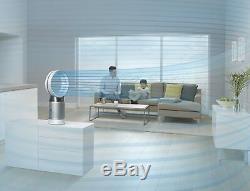 Dyson Cool Pur, Dp04-hepa Purificateur D'air Et Ventilateur Compatible Wifi, Blanc / Argent
