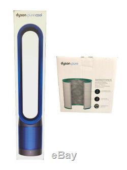 Dyson Cool Pur Purificateur Ventilateur Fer / Bleu + Filtre Hepa Supplémentaire