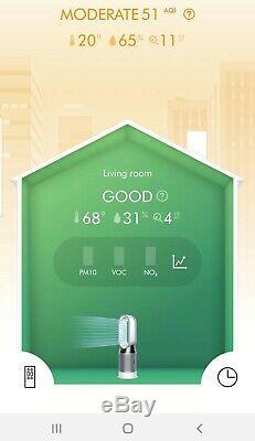 Dyson Hot + Hp04 Pur Hepa Refroidir Purificateur D'air Chauffe-ventilateur Blanc / Argent