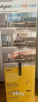 Dyson Hp04 Pure Cool Air Purifier & Fan (tower) Blanc/argent Brand New In Box