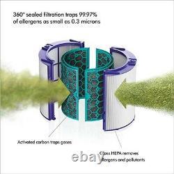 Dyson Pure Hot + Cool Air Purifier Hepa Hp04, Chauffe-glace + Ventilateur (blanc/argent)