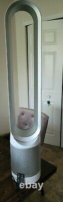 Dyson Tp01 Pure Cool Tower 800 Sq. Ft. Purificateur D'air Hepa Et Ventilateur Blanc/argent