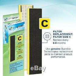 Germguardian Ac5300b 3-in-1 Purificateur D'air Avec Filtre Hepa, Uv-c Désinfectant