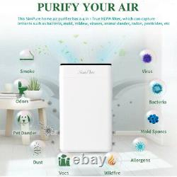 Grand Air Purificateurs D'air Accueil Vrai Nettoyeurs D'air Hepa Allergies Éliminateur De Fumée