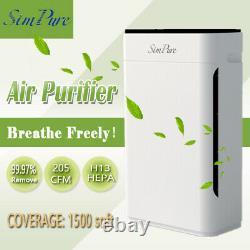 Grand Nettoyant D'air De Pièce H13 Hepa Nettoyeur D'air À La Maison Pour L'éliminateur De Fumée D'allergies