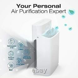 Grand Purificateur D'air Salle Hepa Nettoyeur D'air Supprimer 99,99% Allergies Tvoc Odeur De Fumée