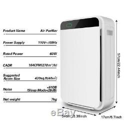 Grande Chambre 3 En 1 Purificateur D'air Hepa Filtre Allergies Asthme Fumée 430 Sqft