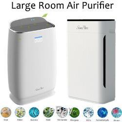 Grande Chambre Purificateur D'air Filtre À Air 4 Étape Filtre Hepa Allergies Eliminator