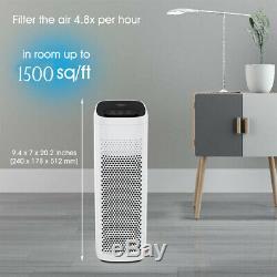 Grande Chambre Purificateur D'air Hepa 4 Étape H13 Filtre À Air Allergies Eliminator Fumée