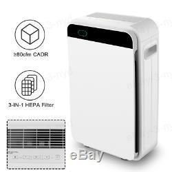 Grande Chambre Purificateur D'air Hepa Filtre À 5 Vitesses Du Ventilateur Assainisseur Uv Cleaner Air