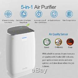 Grande Chambre Purificateurs D'air Hepa Accueil Filtre À Air Pour Les Allergies Animaux Fumeur Poussière