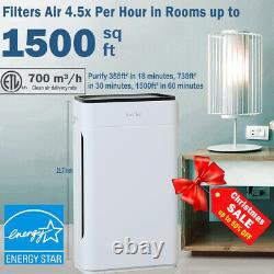 H13 Hepa Air Purificateurs Pour Home Large Room Air Cleaner For Allergies Smoke 24db