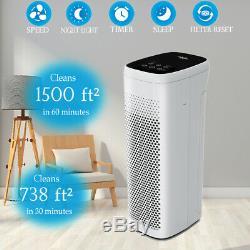 H13 Hepa Purificateur D'air Filtre À Air Cleaner Supprimer Fumée Allergies Grande Chambre