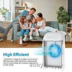 H13 Hepa Purificateur D'air Pour Grande Chambre 1500 Sq. Ft Pour Les Allergies Fumée 24db